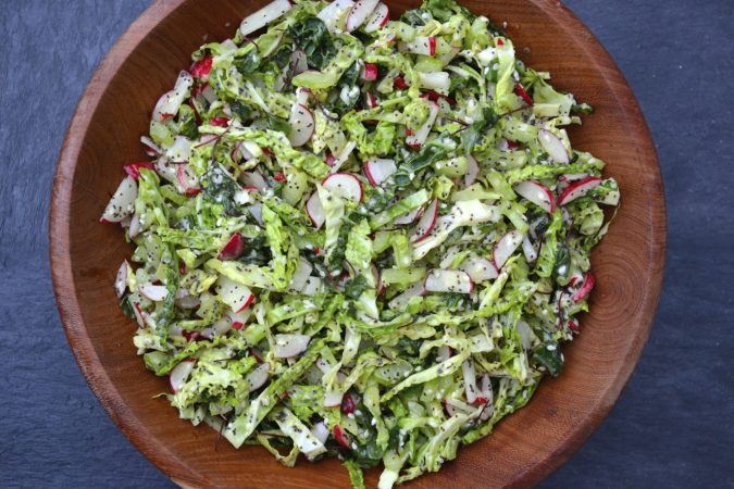 Crunchy Green Slaw with Poppy Seed Dressing
