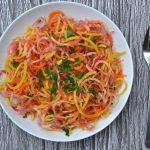 Raw Beet & Carrot Spiralized Salad