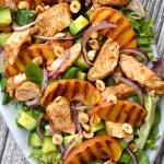 Tandoori Chicken & Grilled Peach Salad