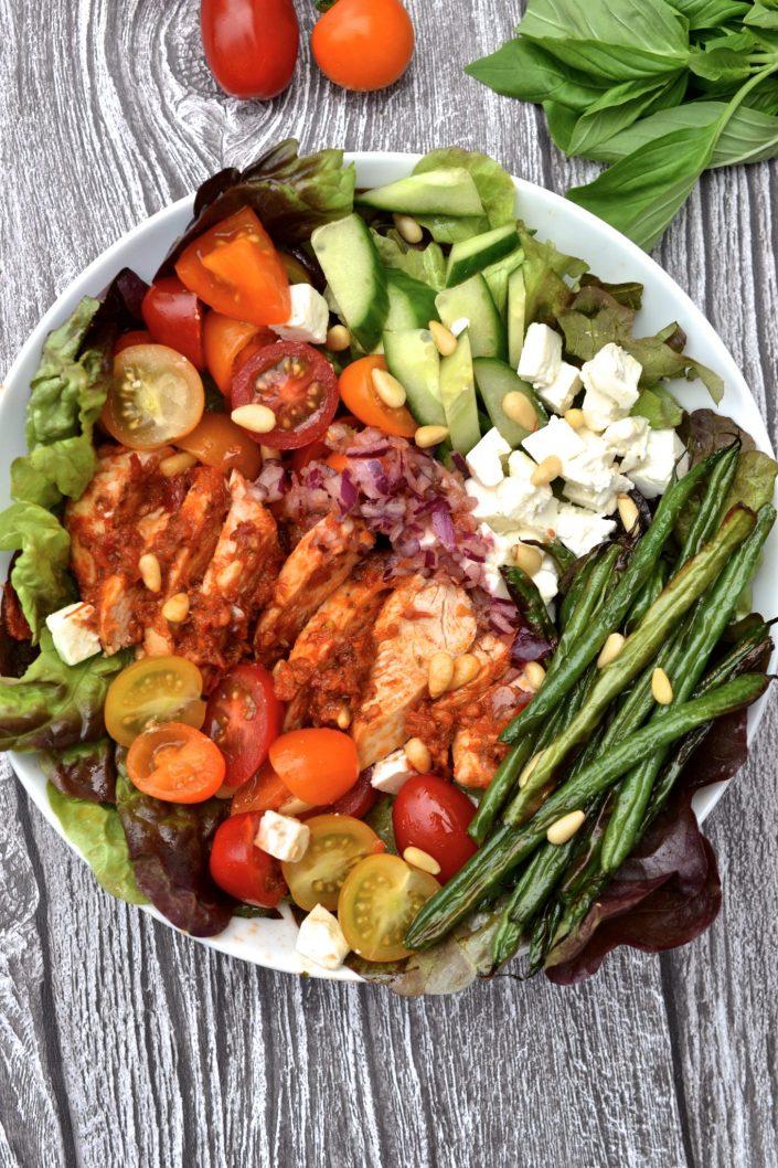 Sundried Tomato Chicken, Roasted Bean & Feta Salad