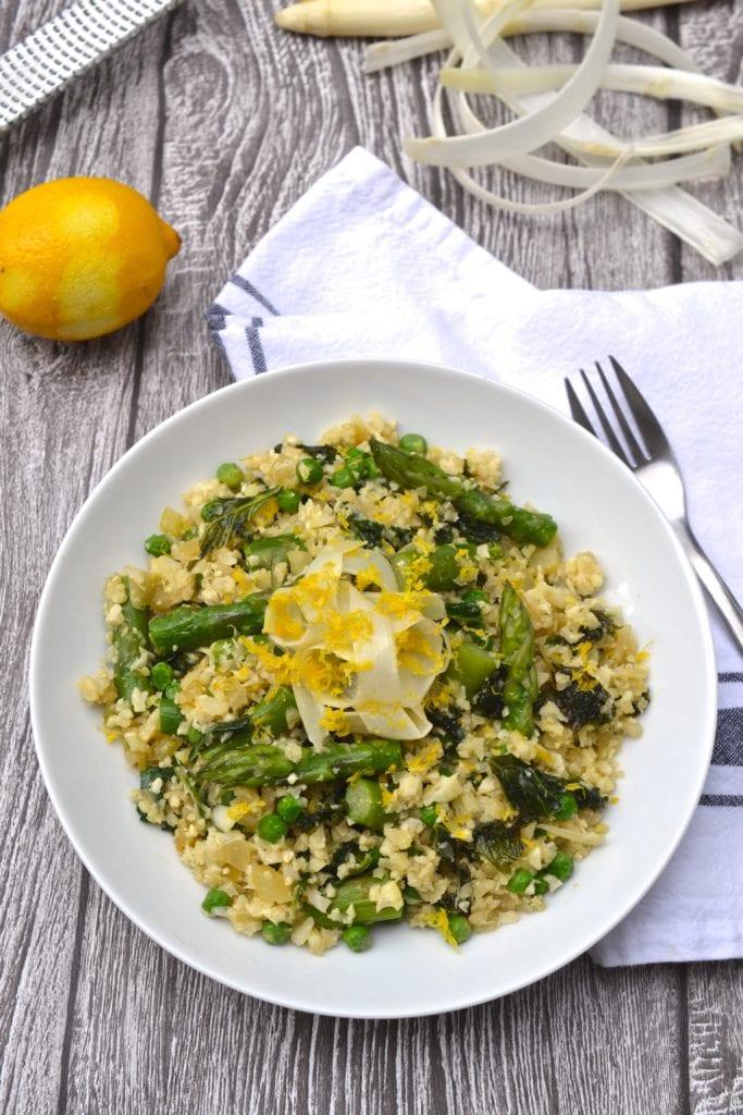 Asparagus, Kale & Pea Lemon Risotto
