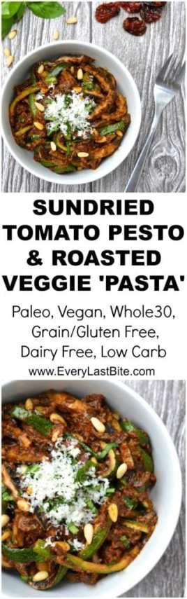 Sun-dried Tomato Pesto & Roasted Veggie Pasta