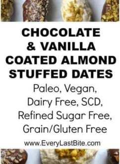 Chocolate & Vanilla Covered Stuffed Dates