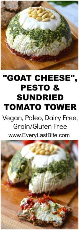 Vegan Goat Cheese Tower