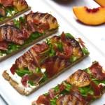 Grilled Peach, Prosciutto and Cashew Ricotta Flatbread