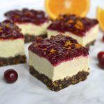 Cranberry Cheesecake Bars