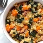 Celeriac Risotto with Butternut Squash & Kale