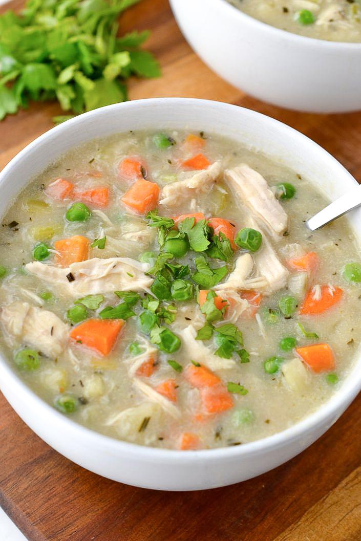 Whole30 Chicken Pot Pie Soup