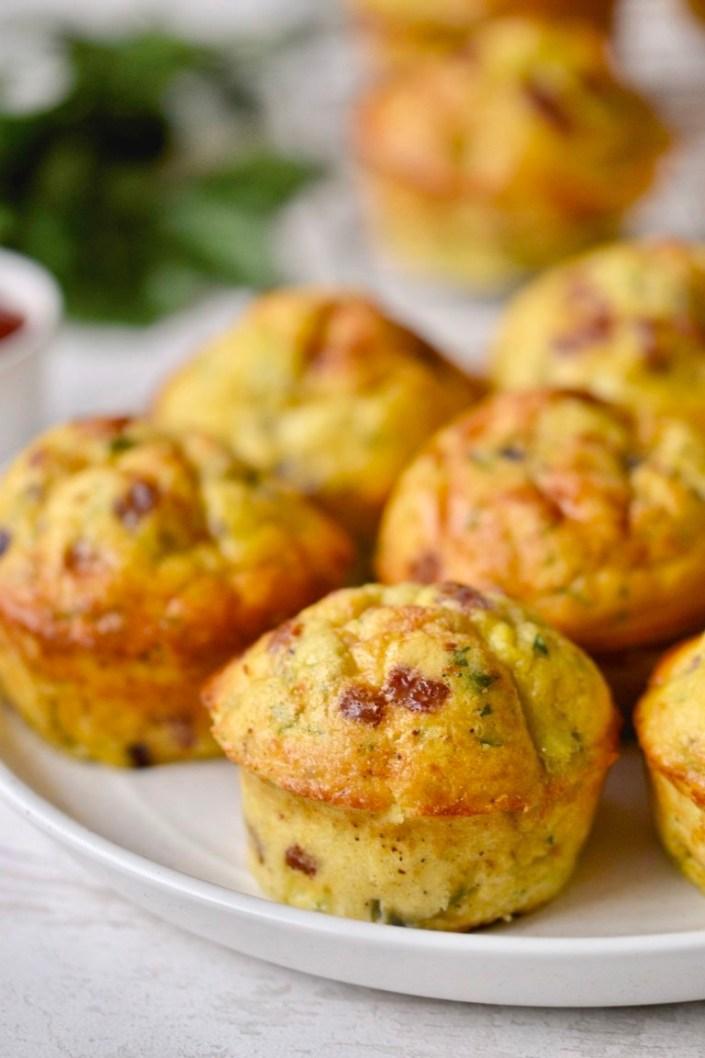 Paleo Zucchini & Bacon Egg Muffins