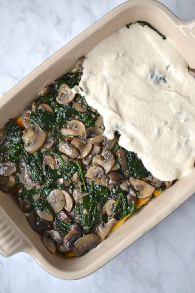 White Spinach & Mushroom Lasagna