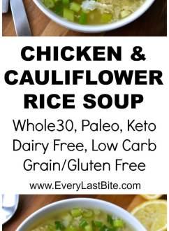 Chicken & Cauliflower Rice Soup