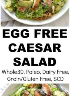Crispy Chicken Caesar Salad with Tahini Dressing