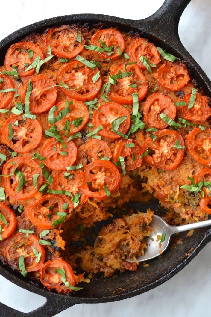 Spaghetti Squash Bolognese Casserole