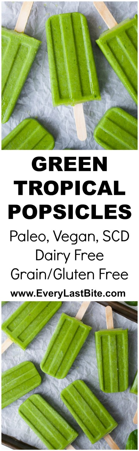 Green Tropical Popsicles