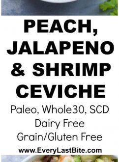 Peach, Jalapeno & Shrimp Ceviche