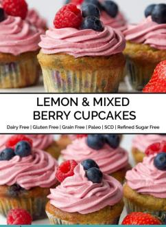 Lemon & Mixed Berry Cupcakes