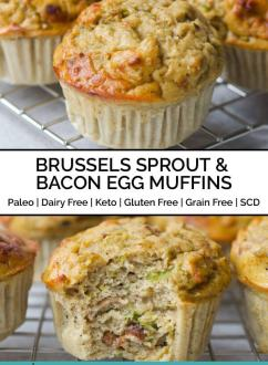 Brussels Sprout, Bacon & Egg Muffins