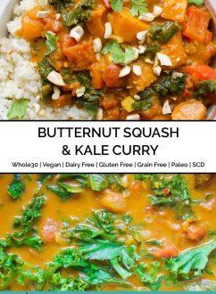 Butternut Squash & Kale Curry