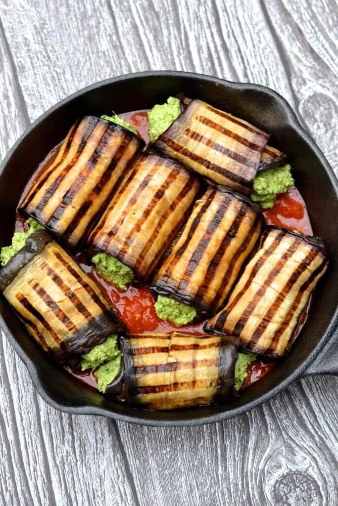 Vegan Eggplant Cannelloni