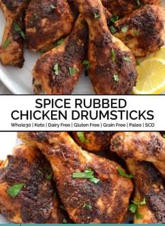 Spice Rubbed Chicken Drumsticks