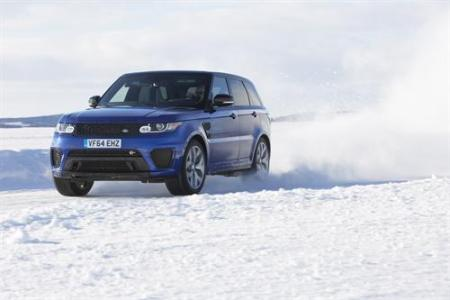 Range Rover Sport SVR Takes on Arctic Silverstone Circuit on Everyman Driver