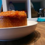Steamed Stem Ginger Pudding made with butternut squash and ground almonds
