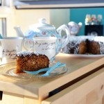Macadamia & Ginger Lamington Cake