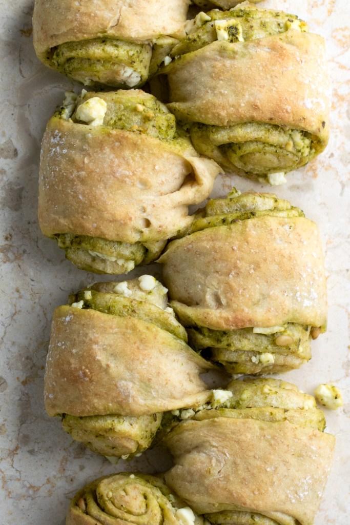 pesto and feta bread-2