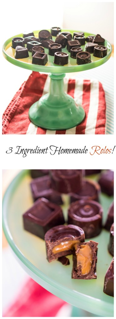 3 Ingredient Homemade Rolos!