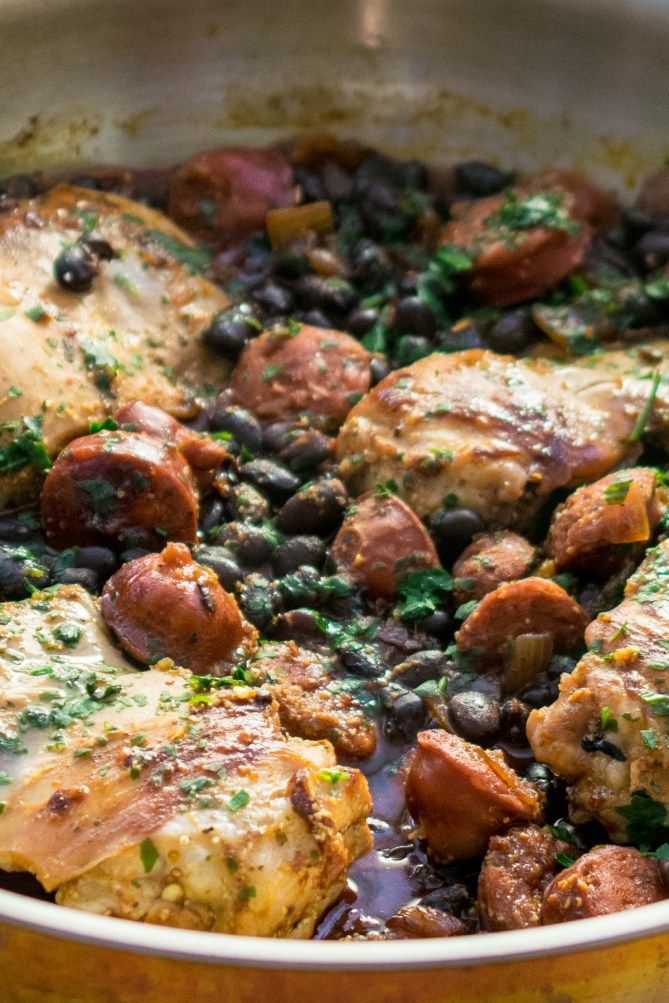 Piri Piri Chicken & Chorizo with Black Beans-3