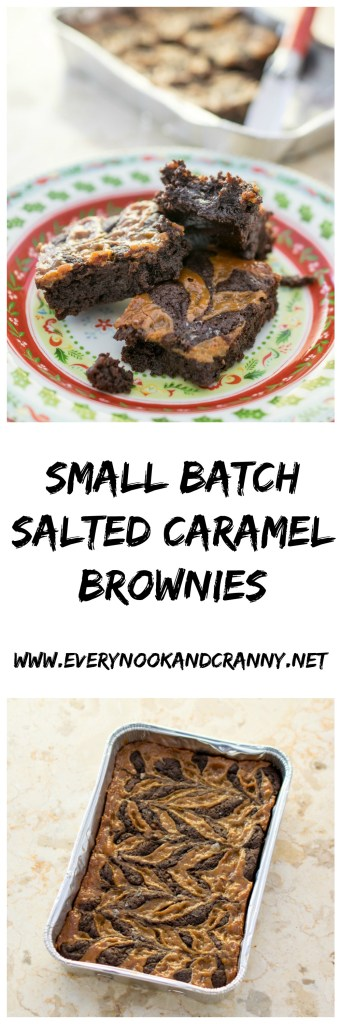 small-batch-salted-caramel-brownies-collage
