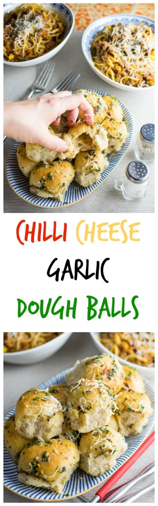 chilli cheese garlic dough balls