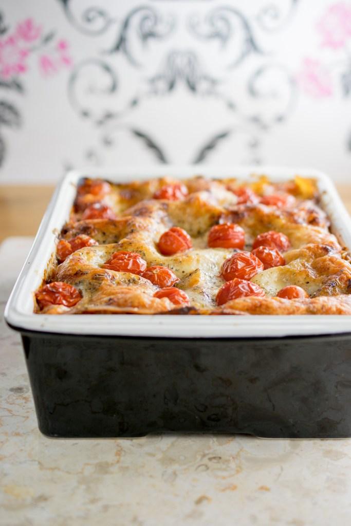 chicken and pea lasagne_