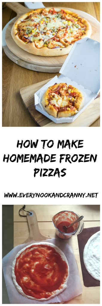 How to part bake pizza bases and freeze them for 15 minute winner dinners later!