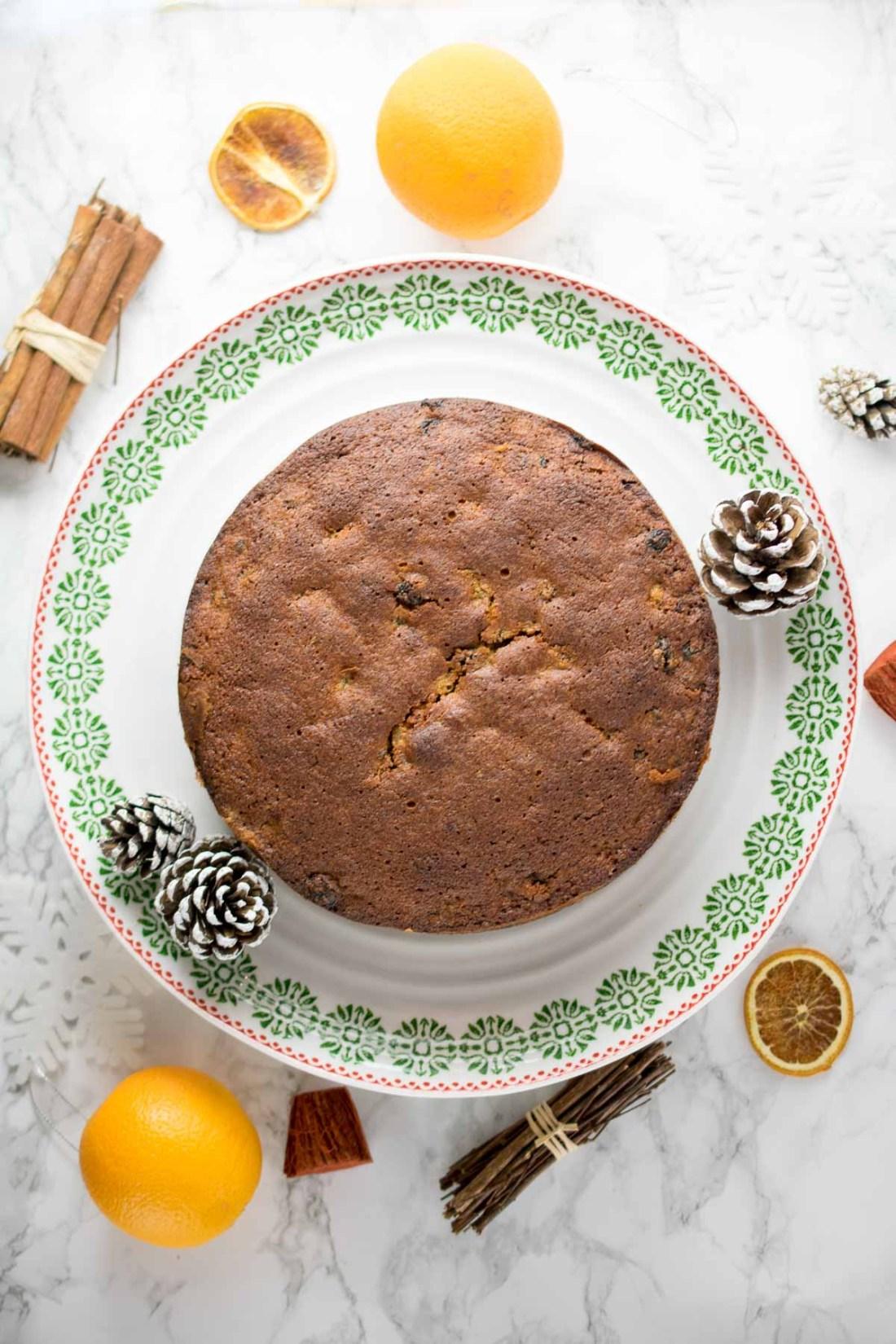 GF Orange & Cinnamon Fruit Cake