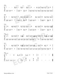 暖暖-遇見-童話-EOP教學曲雙手簡譜預覽