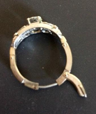 Art Deco Ring Adjustable Band