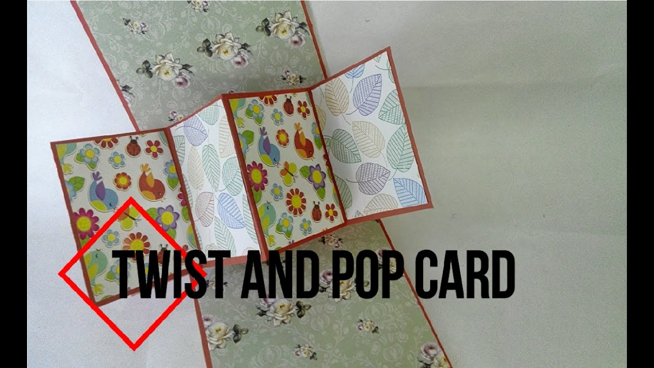 DIY TWIST AND POP CARD STEP BY STEP GUIDE SUPER EASY