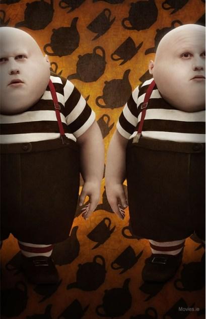 Matt Lucas as Tweedle Dee and Tweedle Dum