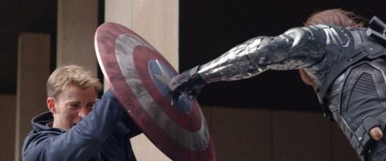"""Marvel's Captain America: The Winter Soldier"" L to R: Captain America/Steve Rogers (Chris Evans) & Winter Soldier/Bucky Barnes (Sebastian Stan) Ph: Film Frame © 2014 Marvel.  All Rights Reserved."