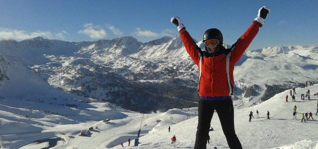Skiing in Pas de la Casa (Andorra)