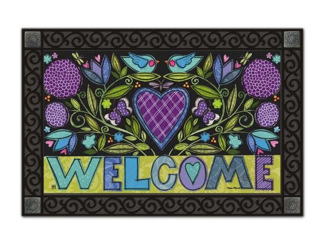 Heartfelt Welcome Spring Amp Valentines Day MatMate Doormat