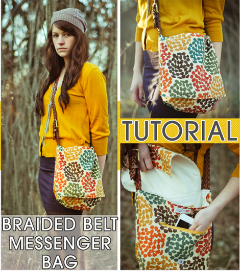 Back to School DIY Messenger Bag