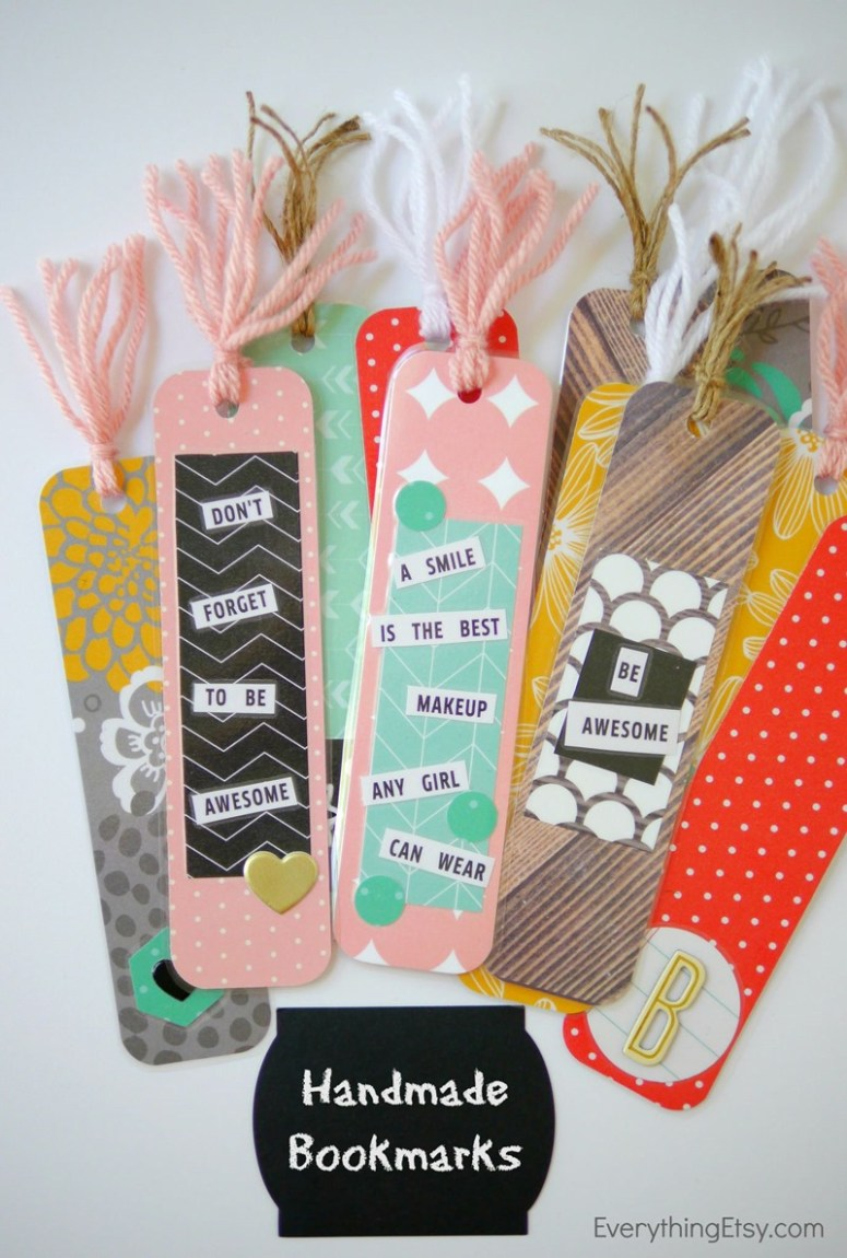 handmade bookmarks back to school diy