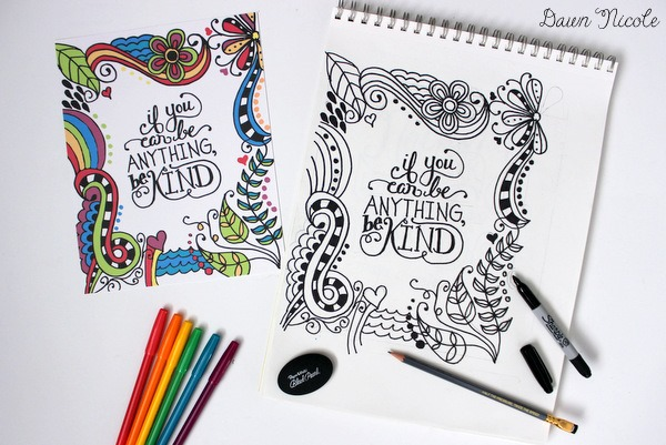 printable coloring pages for adults { free designs}