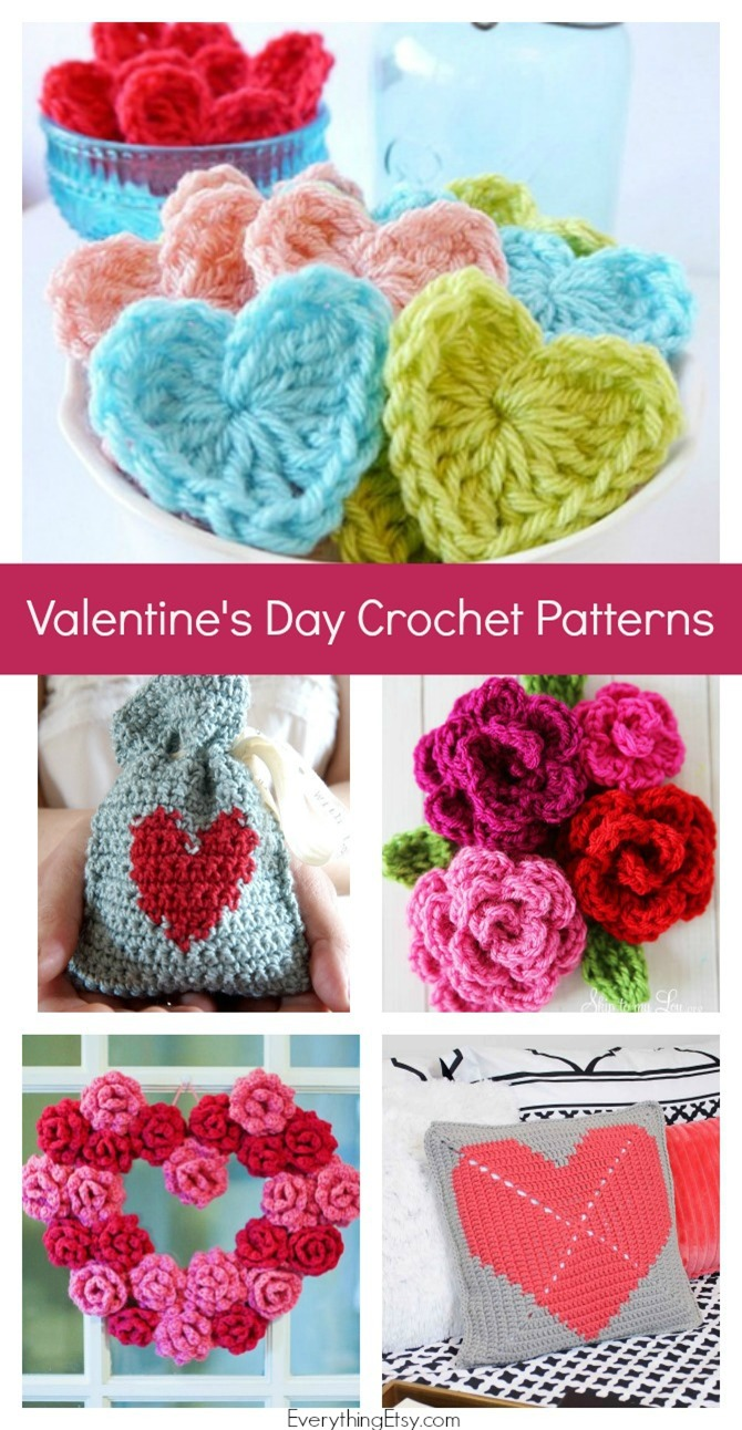 12 Free Crochet Patterns For Valentines Day Easy