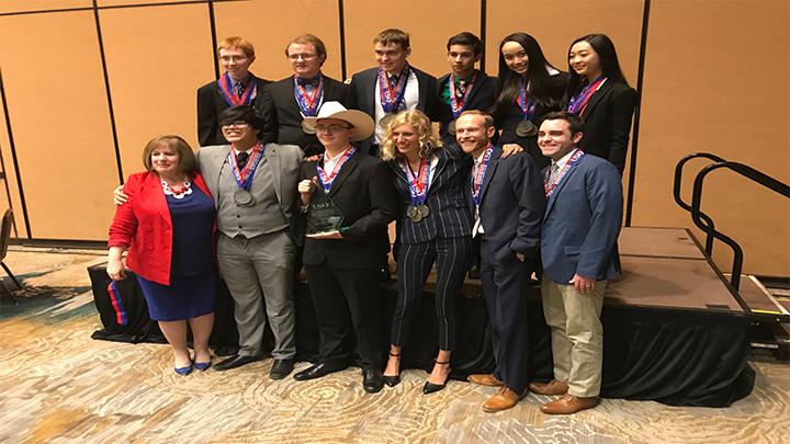 Lubbock High School Academic Decathlon Team (2018) - 720