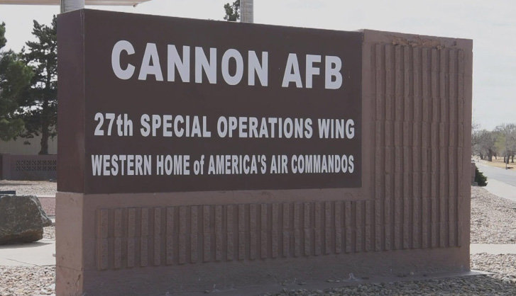 Cannon Air Force Base Sign, Cannon AFB - 720