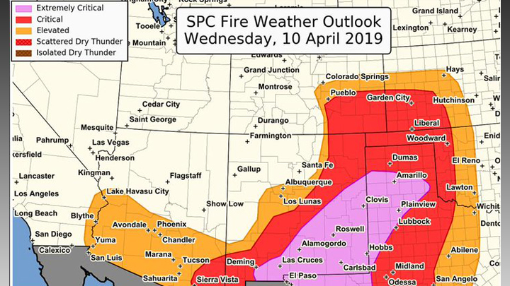 SPC Fire Danger Map 720