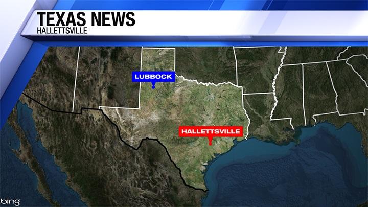 Hallettsville Texas Locator Map (KAMC) - 720